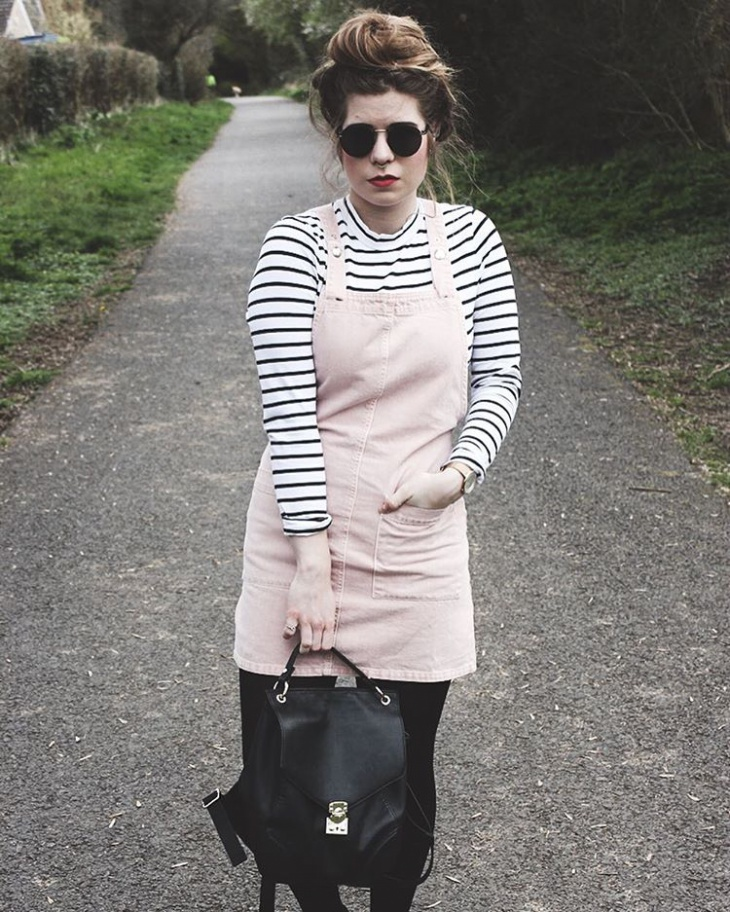 Pink Color Dungaree Outfit