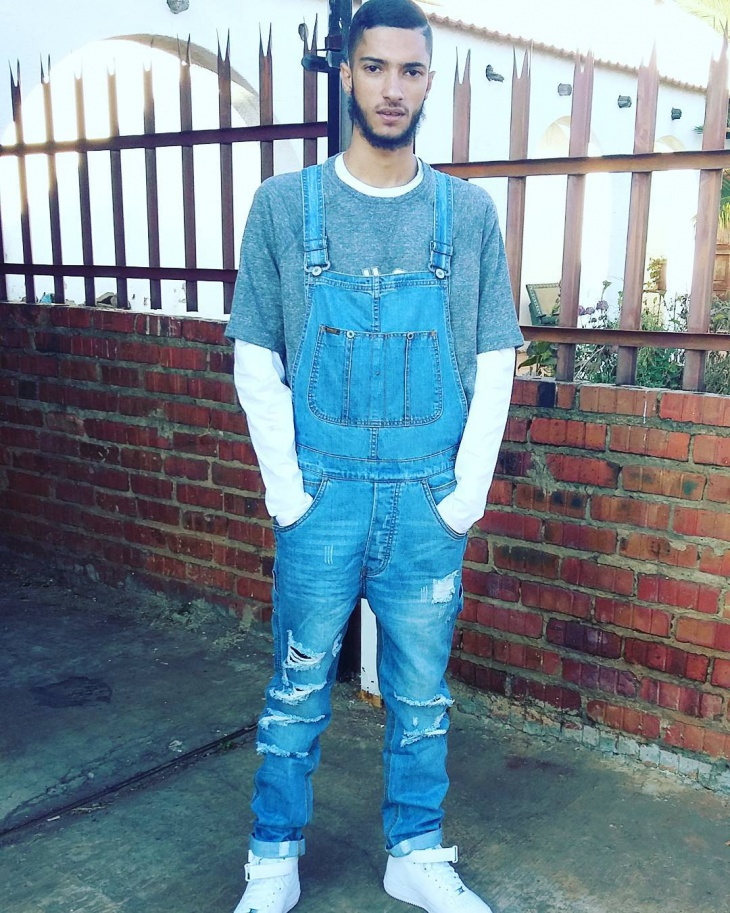 trendy dungaree outfit for men