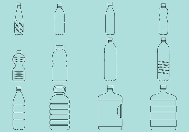 Vector Collection of Water Bottle Icons
