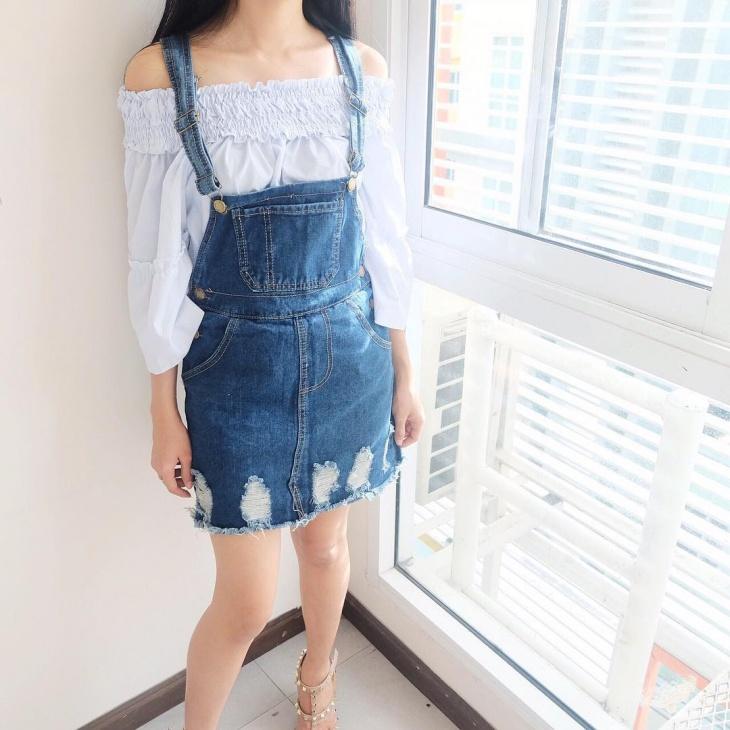 modern dungaree skirt design