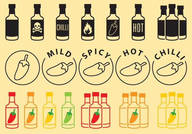 Free Vector Sauce Bottle Icons