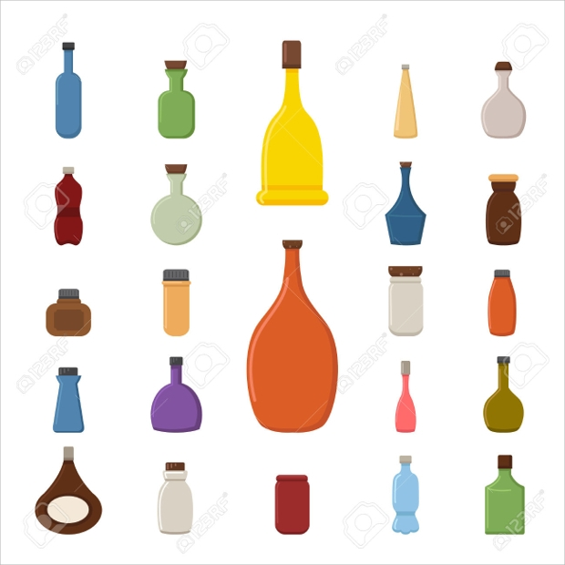 Plastic Bottle Icon Set