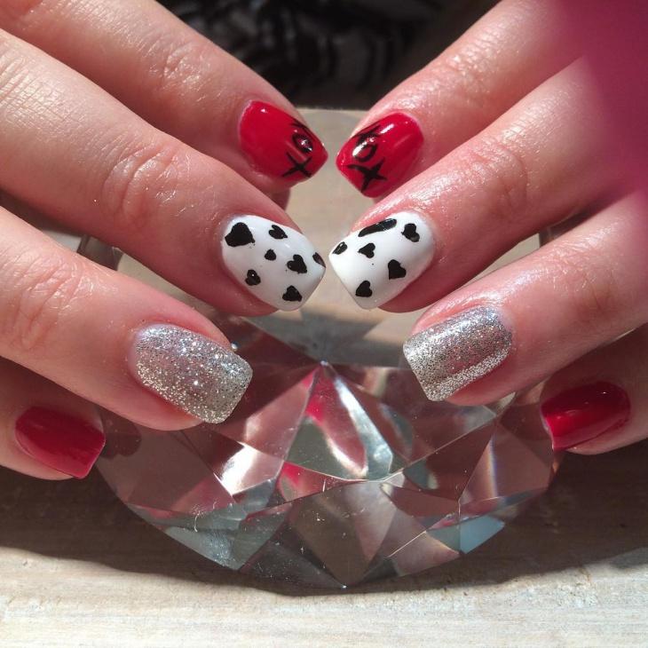 valentine nail art design idea