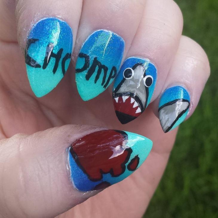 cute talon nail art idea