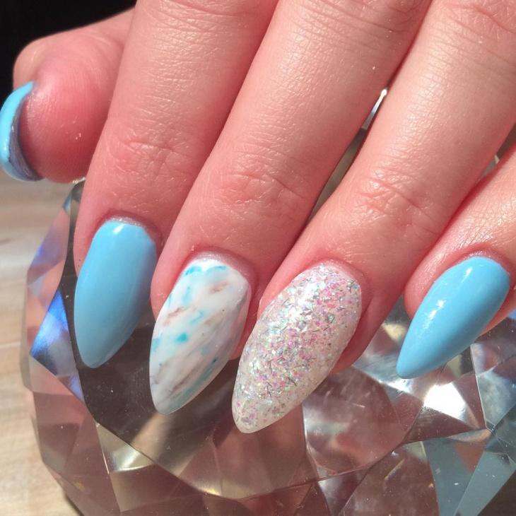 beautiful marble nail artbeautiful marble nail art