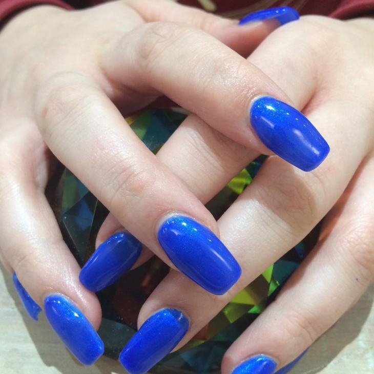blue color talon nails