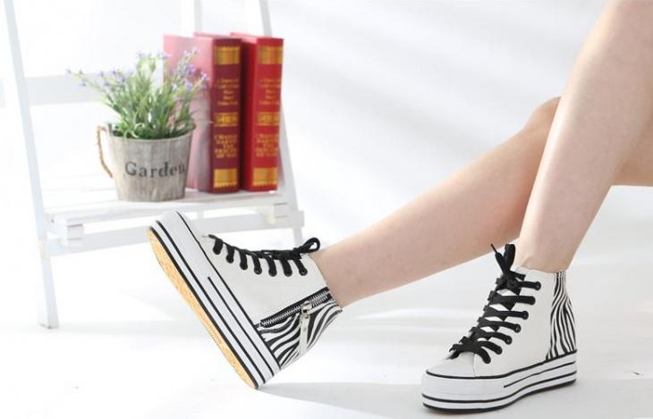 Cool Zebra Platform Sneakers