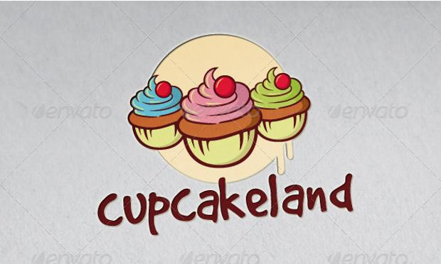 Decorative Cupcakeland Logo Design