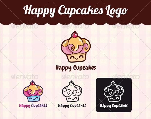 Happy Cupcakes Logo Design