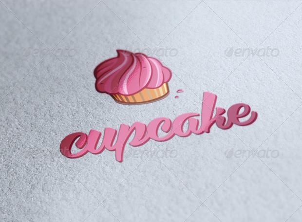 Pink Cupcake Logo