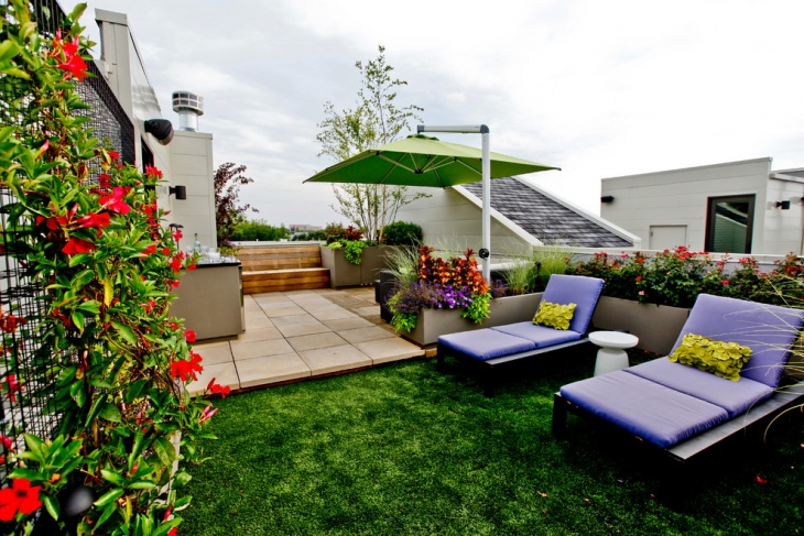 rooftop landscaping idea