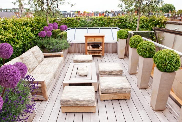 Rooftop Patio Garden Idea