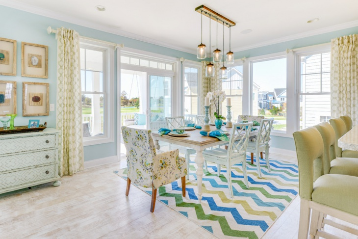 beach themed dining room