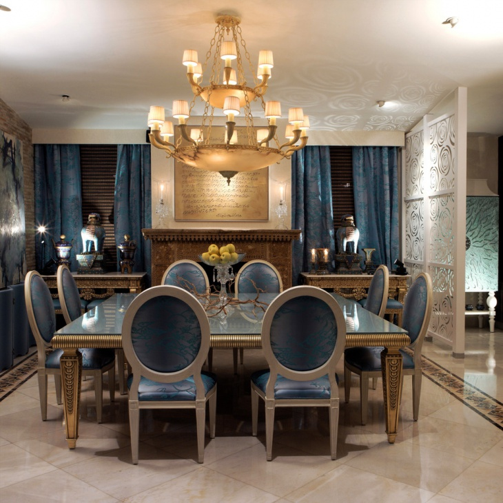 beautiful chandelier dining room