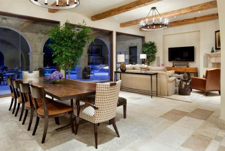 coastal living dining interior
