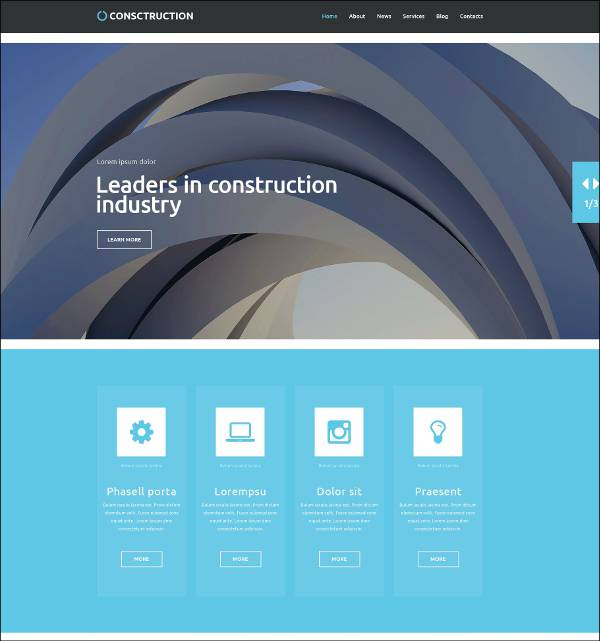 professional construction company wordpress template1