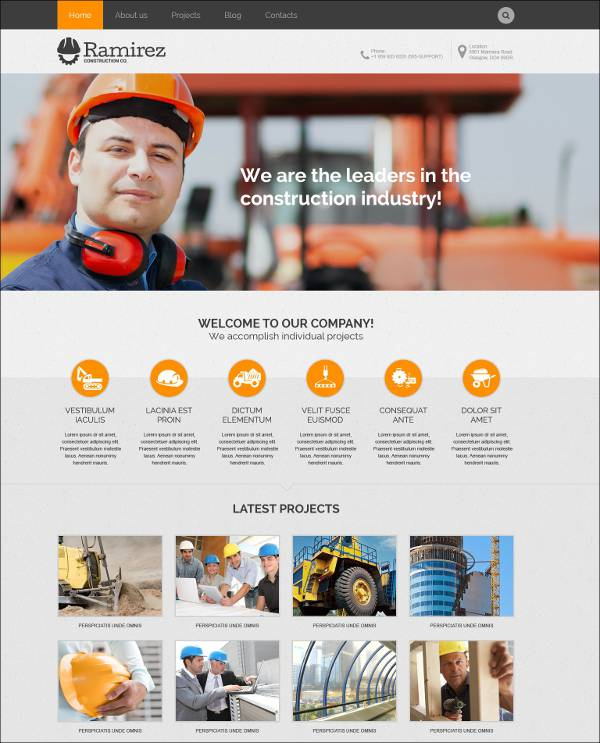 contract man force wordpress template