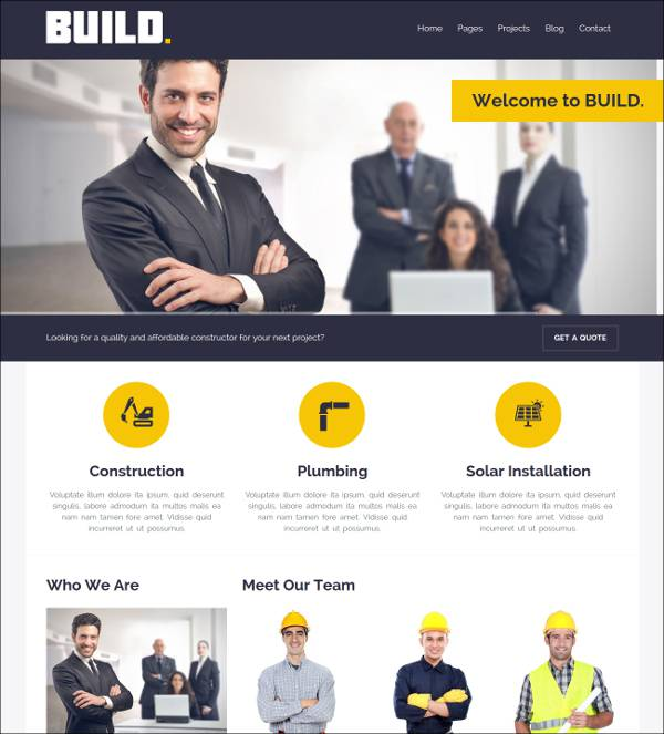 build construction wordpress theme1