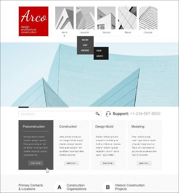 Modern Architecture Company WordPress Themes