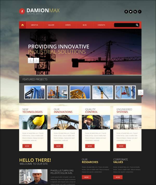 Industrial Responsive WordPress Theme