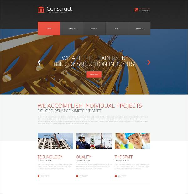 skyscraper construction wordpress theme1