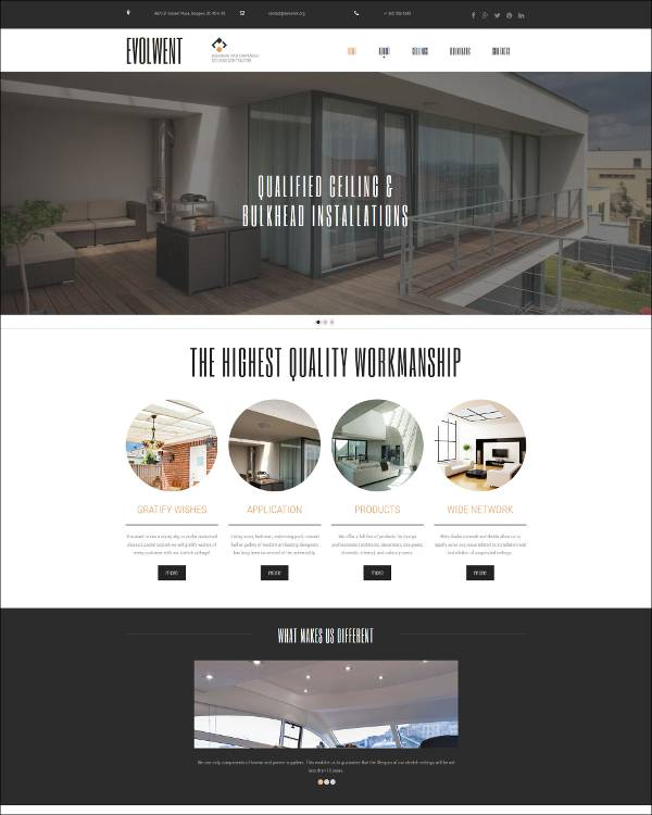 construction website wordpress templates