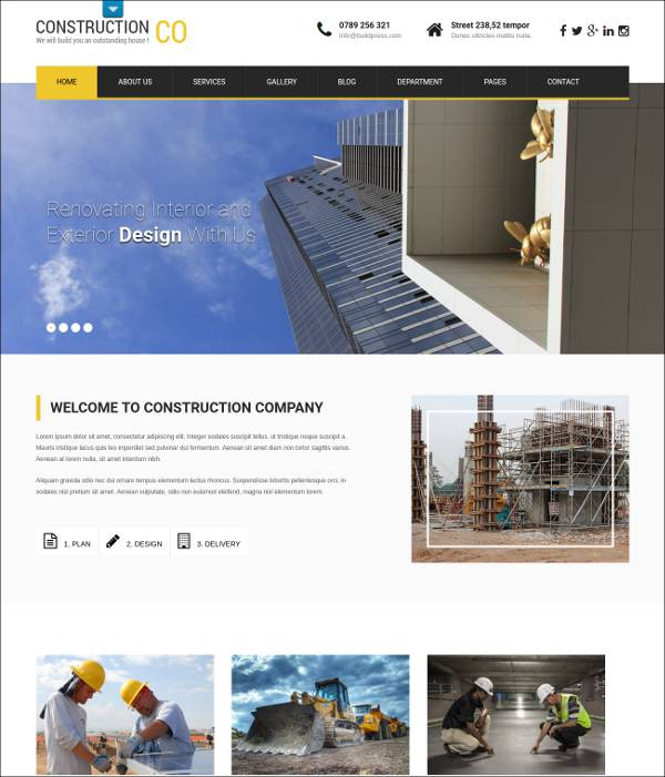 free responsive construction wordpress theme