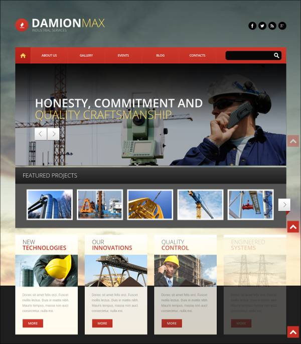 industrial wordpress theme