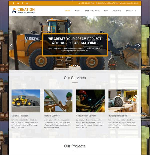 construction development wordpress theme1