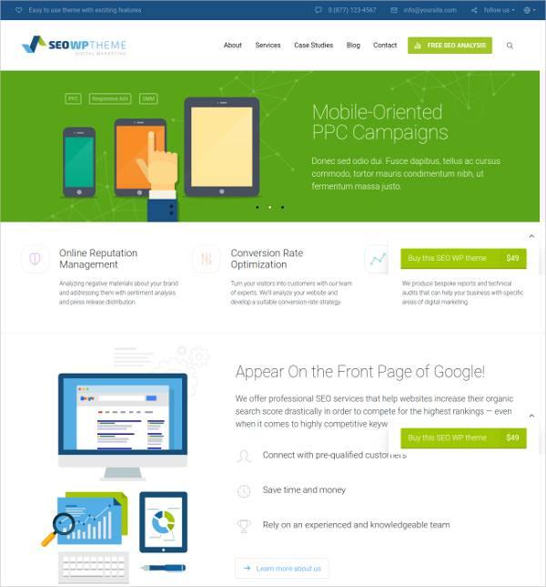 marketing agency wordpress themes