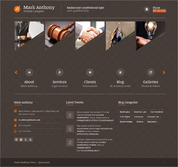 responsive finance law wordpress theme