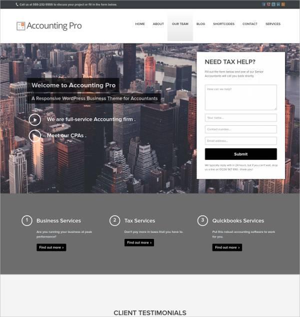 responsive accounting pro wordpress theme1