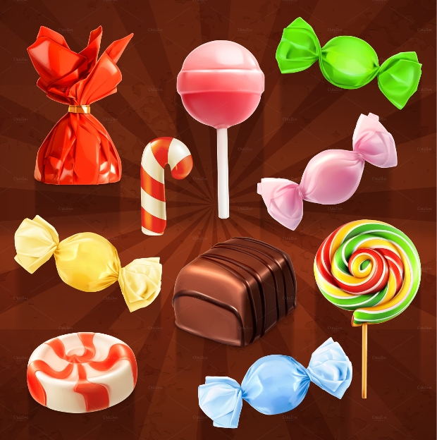Vector Candy Icon Design