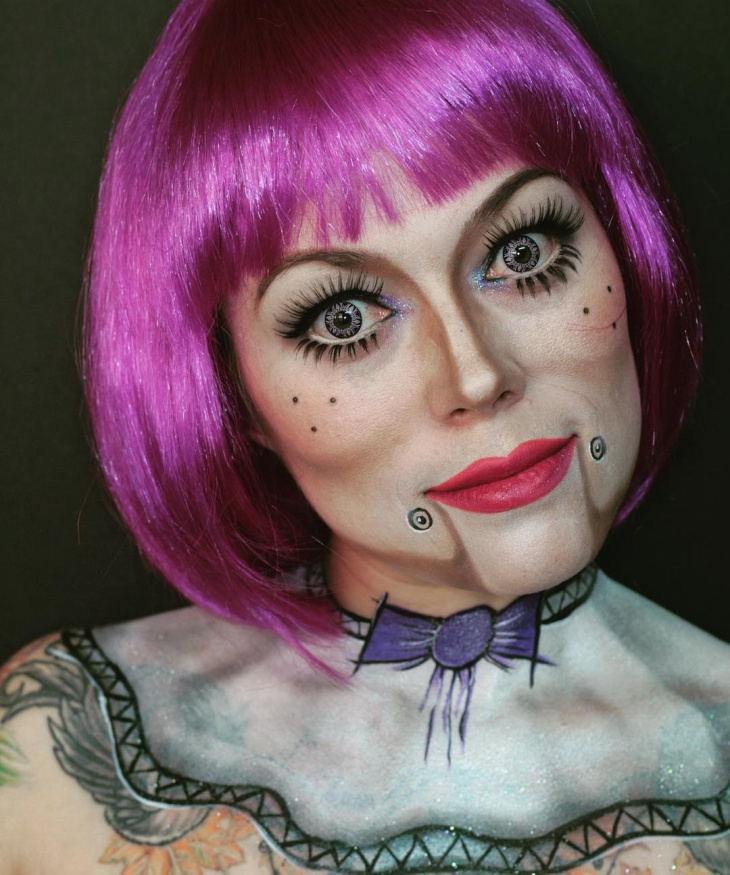 Creepy Marionette Makeup