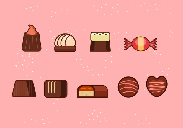 Chocolate Candy Icons