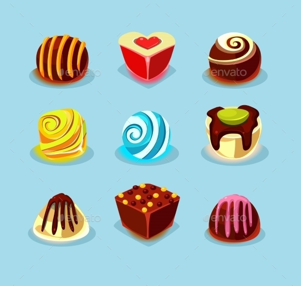 Delicious Sweets and Candies Icons