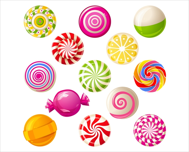 Sweet Candies Icon Set