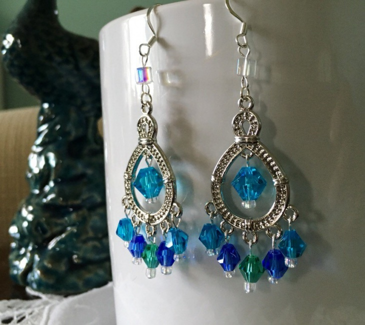 peacock topaz earrings