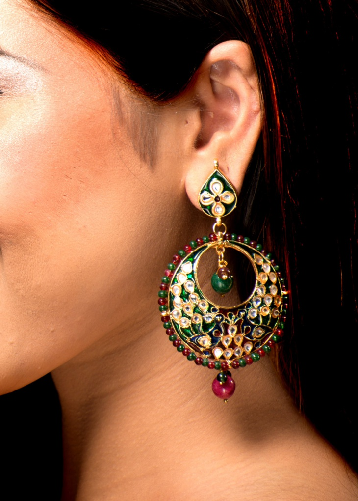 awesome chandelier peacock earrings