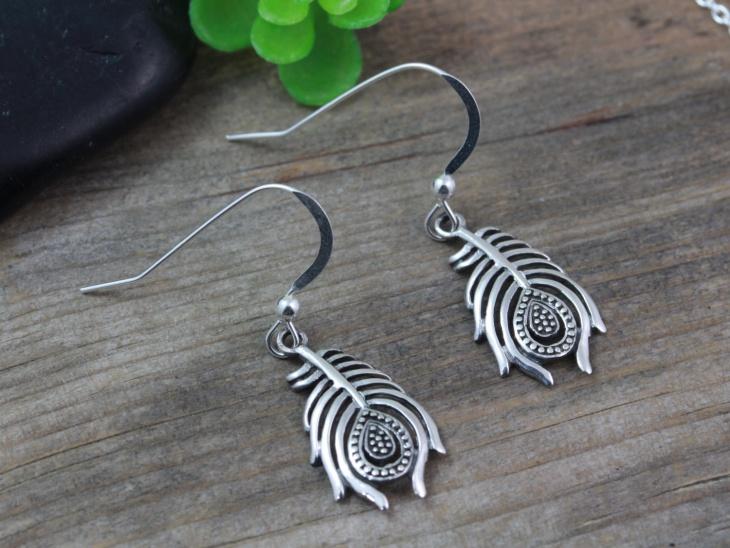 Lovely Silver Feather Earrings