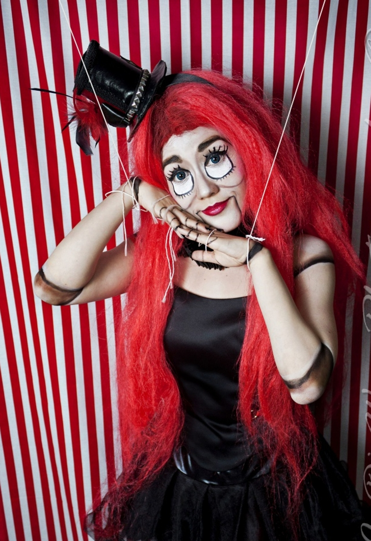 Trendy Marionette Puppet Makeup