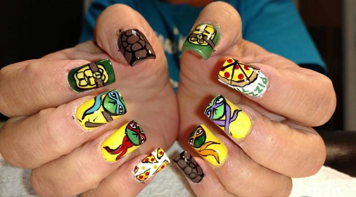 Ninja Turtle Nail Art