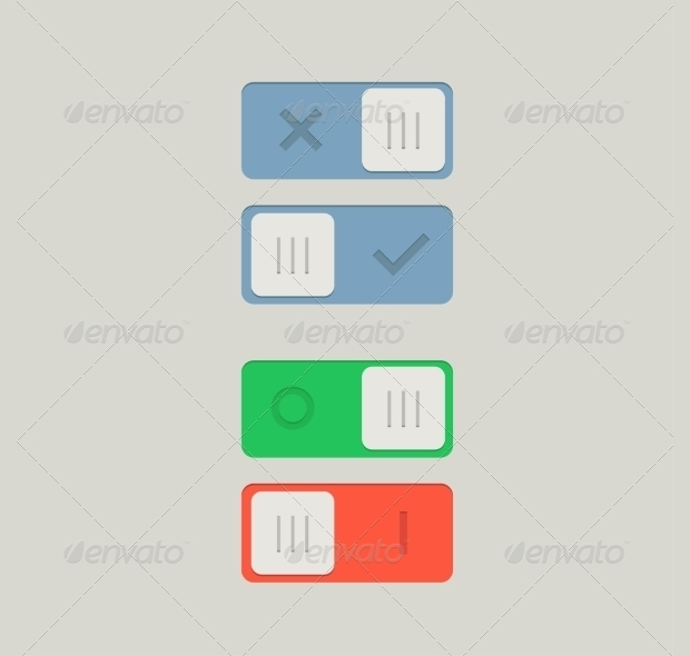 toggle psd on and off button design