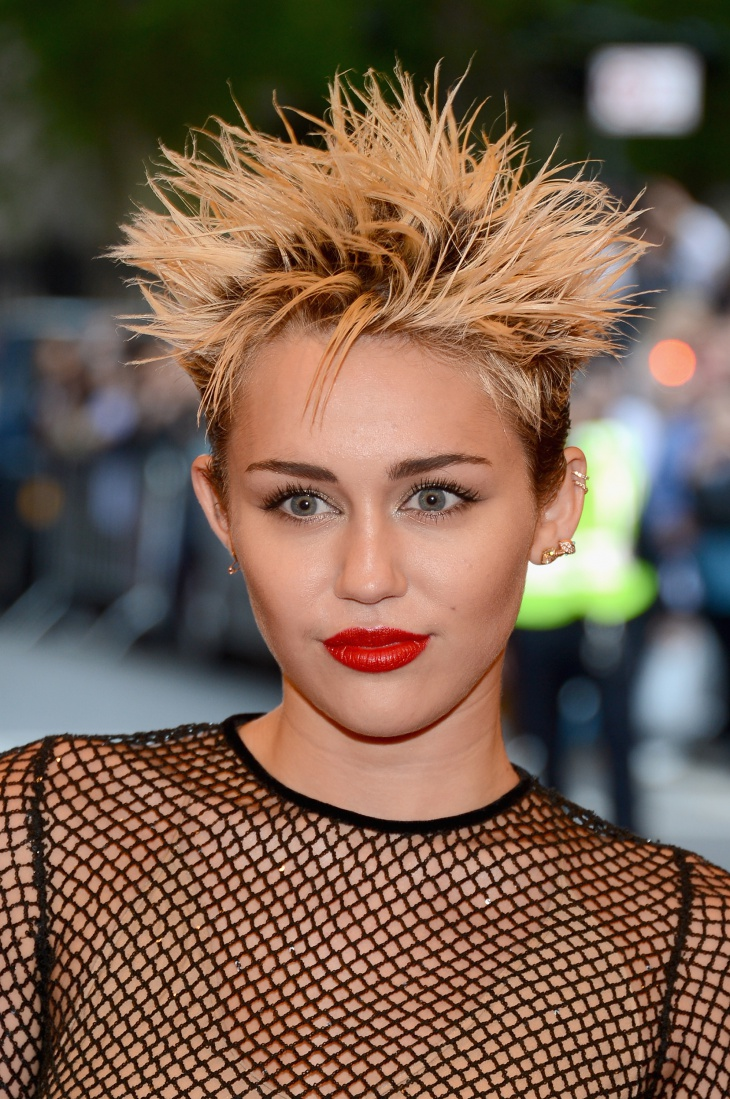 Miley Cyrus Spiky Punk Hairstyle