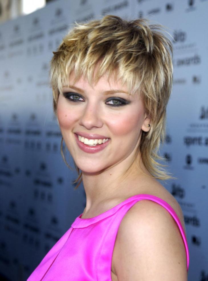 Scarlett Johansson Mullet Punk Hairstyle