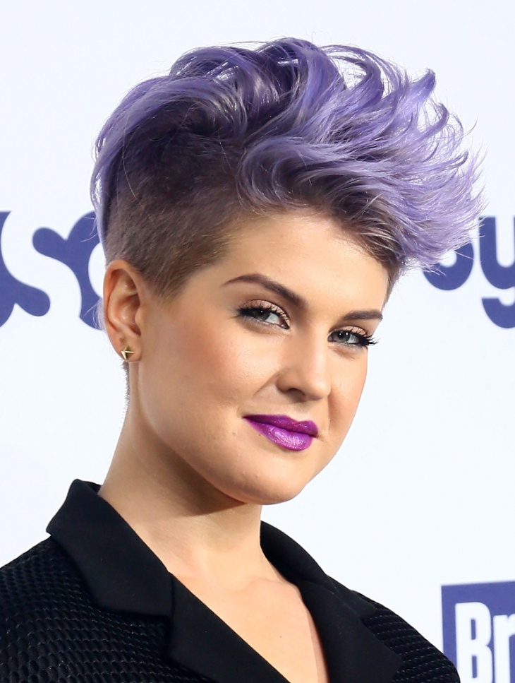 Kelly Osbourne Punk Mohawk Haircut