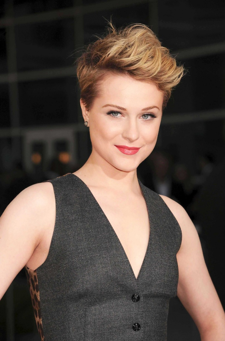 Evan Rachel Wood Punk Pixie Hairstyle Idea