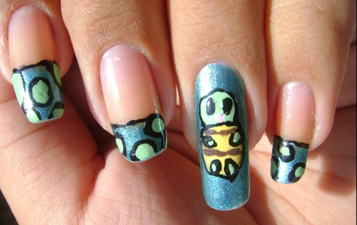 little turtle nail art 1