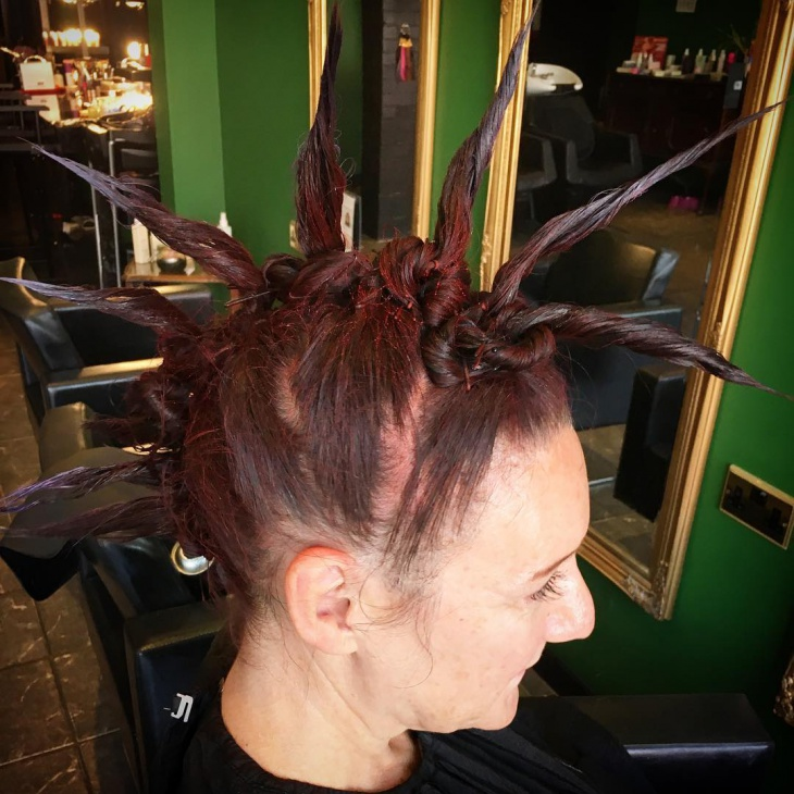 Unique Twisted Punk Hair Design