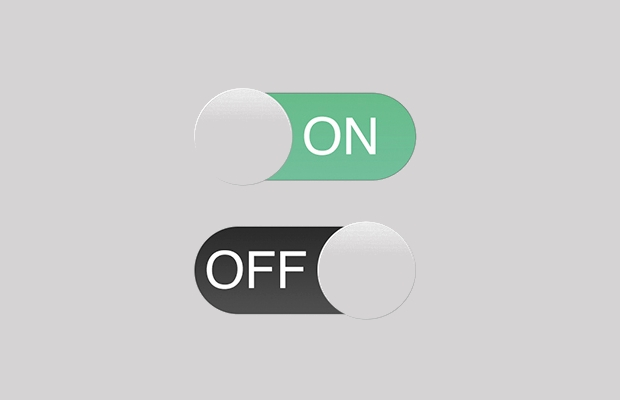 simple toggle psd buttons